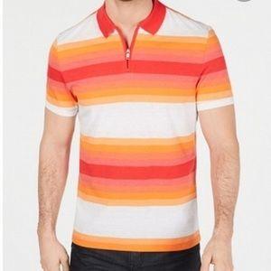 🍍 3/$30 Alfani stretch striped polo